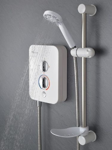 Mx Intro 950 9.5Kw Electric Shower - White & Chrome